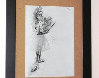 """Dancer """"range rendition of a drawing by Edgar Degas."""