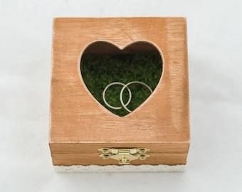 Heart Shaped Ring Bearer box Wedding ring box Personalized wedding box Ring Bearer Pillow Custom ring box Engagement box Wedding Ring Holder