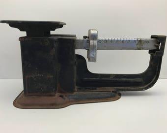 1937 Vintage Black Post Office Scale