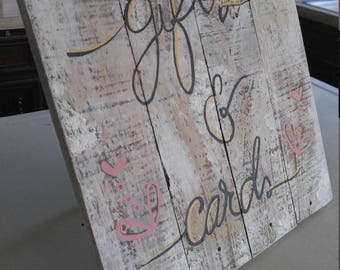 Wedding 'Gifts & Cards' Sign