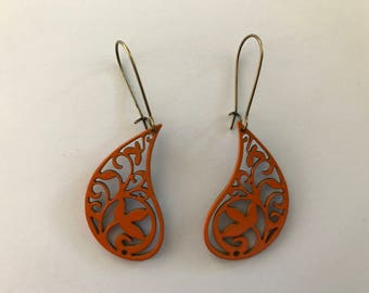 Painted Lightweight Filigree Earrings - 1 1/2 inch