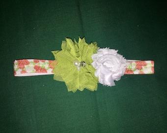 Newborn to 3 month Double Flower Headband