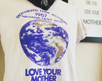 1987 Mothers Day Nevada Nuclear Test Site Protest T-Shirt.