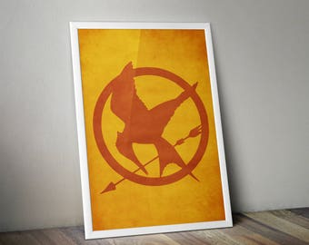 Hunger Games Mockingjay Print - Hunger Games Poster Print, Mockingjay Wall Art Poster, Hunger Games Mockingjay Minimalist Art Print.