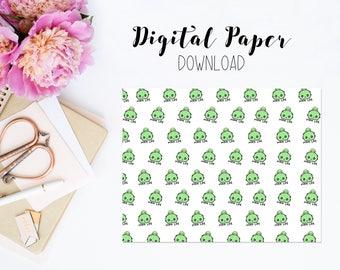 Digital Paper - Tubs Mom Life