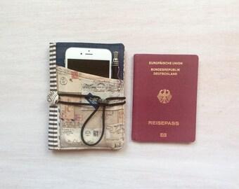 Minimalist traveler, passport cover, ReisepasHülle