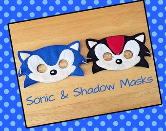 Sonic the Hedgehog- Shadow-Inspired Felt Masks- Child's Dress Up Imaginary Play- Birthday Party Favor-Photo Shoot-Pretend Play-Theme Party