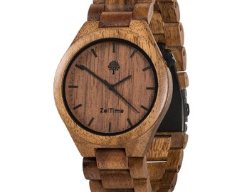 Don Alpha Acacia Wood Watch, Wooden watch, Brown watch, Acacia wood watch, Handmade watch, men watch, Birthday gift, For him wood watch