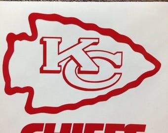 Kansas City Chiefs Decal Etsy - Custom vinyl stickers kansas city