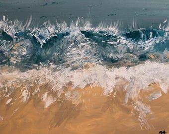 Laguna Thousand Steps Beach - Original Acrylic Painting Prints
