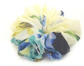 Light Lime Scrunchy, Scrunchies, Hair Scrunchies, Tropical Scrunchie, Big Large Scrunchies, Floral Scrunchie, Headband, Stylish Scrunchie