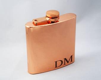 Personalized Flask - Groomsman Flasks - Rose Gold Flask