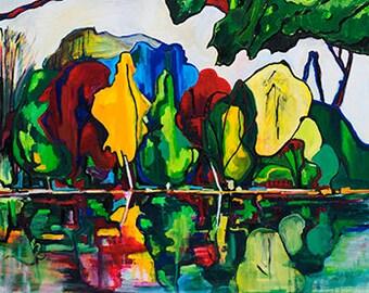 Reflection - Print, Canvas, Color painting, Modern, Decor, ArtWork, Original painting