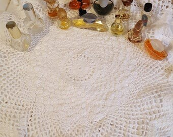 Mini perfume bottle collection of 12 bottles most are vintage some full