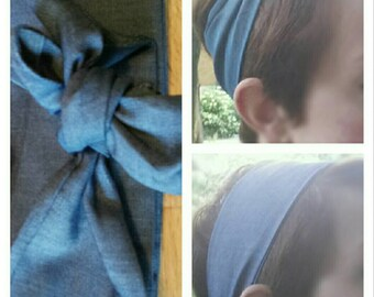 Headband light blue denim