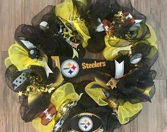 Pittsburgh Steelers LED Wreath