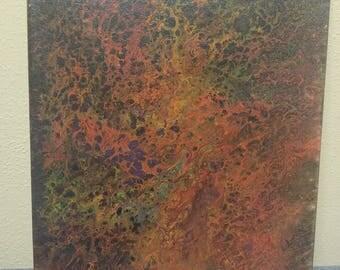 Rainbow acrylic painting on canvas