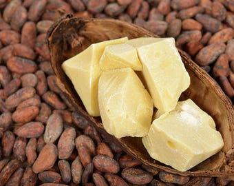 100% Raw Organic Unrefined COCOA BUTTER Pure Prime Pressed Natural Quality - Choose Size - Superfast Shipping to USA (3-7days)