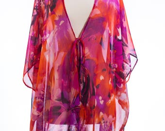 floral kimono, summer cover up, classy beach look