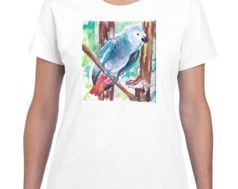 Blue Parrot By Paintsarahpaint - Ladies Shirt