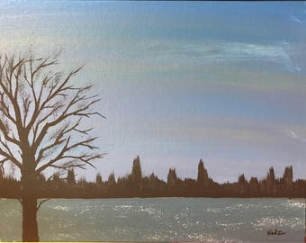 Acrylic 11 x 14 Canvas panel / RIVERSIDE canvas Panel