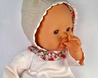 Doll clothes - bonnet - 36 cm doll Bonnet type Corolla