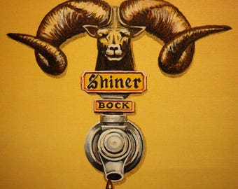 Shiner Bock - Beer Tap Painting