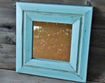 Upcycled Vintage Framed Mirror / Farmhouse Decor / Shabby Chic / Rustic / Beach Cottage /