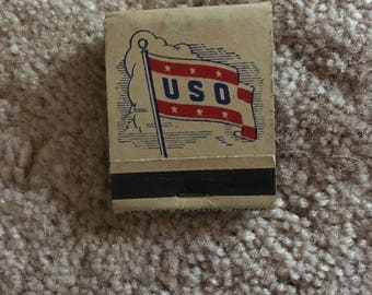 Vintage USO Matchbook