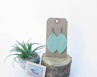 Leather earring set - 0004