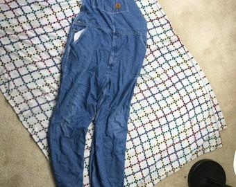 Vintage 90s Walls Work Denim Jeans Overalls Mens 36 x 34 Blue USA Made