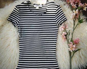 Vintage 90s rampage striped tee tshirt
