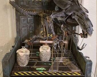 Alien Queen Detolf Diorama AVP NECA Predator