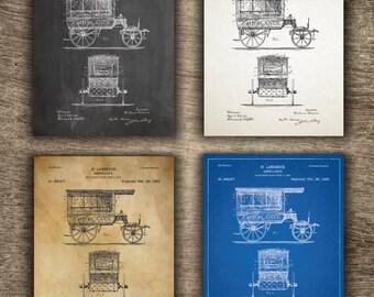 Ambulance Patent Poster | Ambulance Patent Art | Paramedic Poster | Ambulance Patent Instant Download