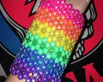 15 Row Rainbow Kandi Kuff