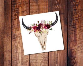 Bull skull || 1 sticker