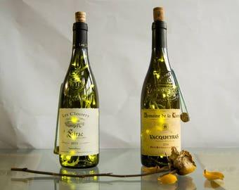 Clear Wine bottle lights.