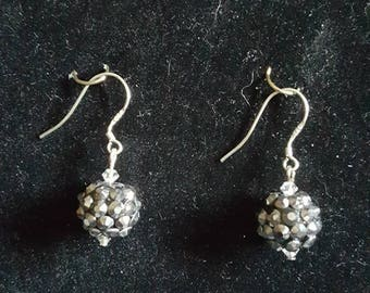Black and Silver Spiked Earrings
