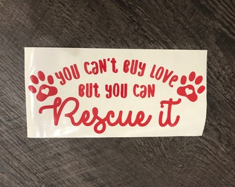 Rescue animal decal