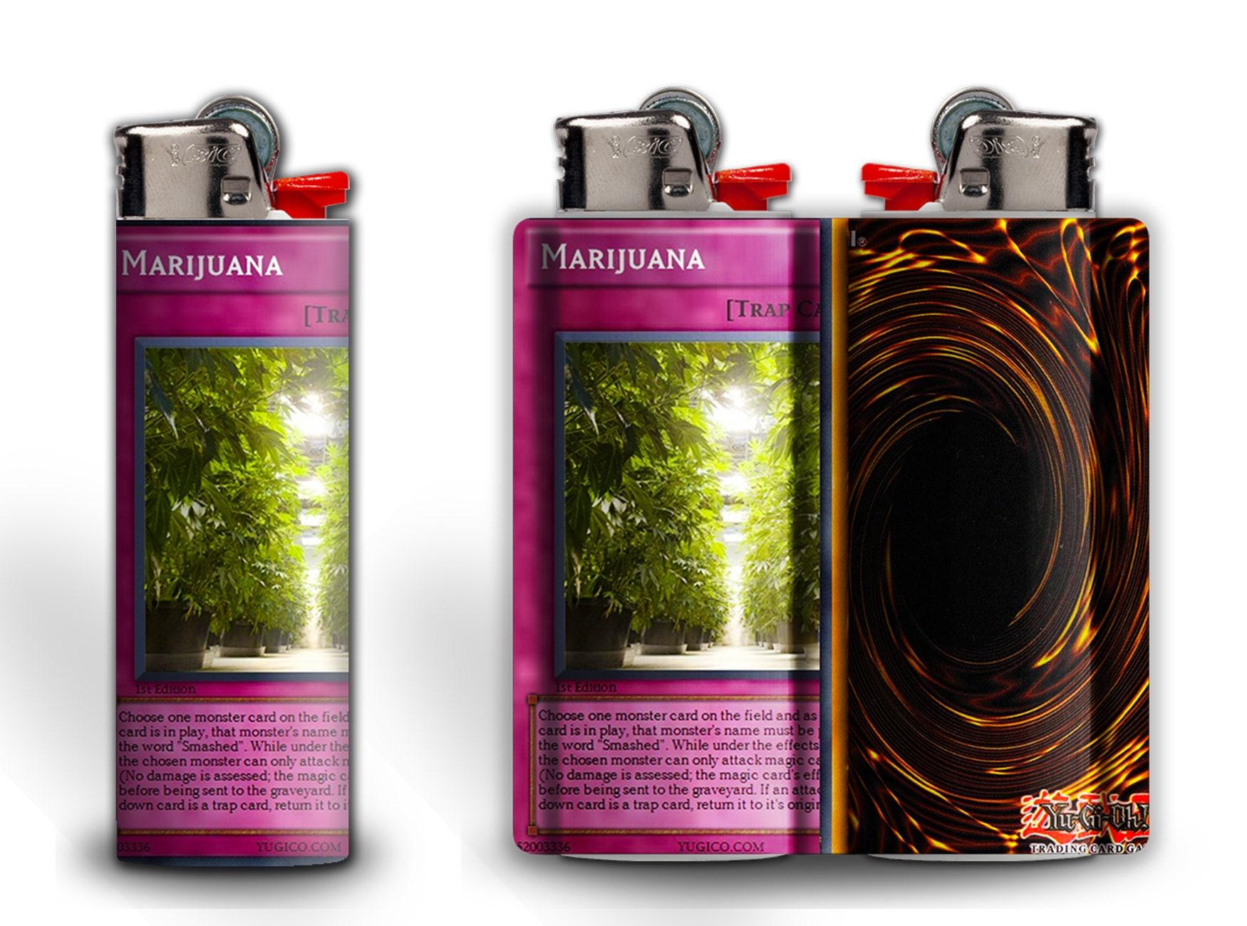 marijuana yugioh trap card lighter