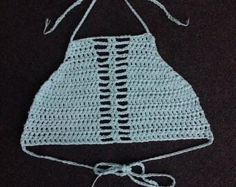 Athena hand made crochet  bikini top