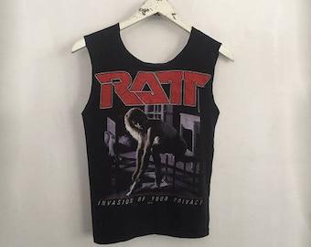 Vintage Ratt Concert Shirt 80s, Band Concert tshirt, xs, small
