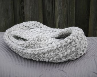 Marble Gray Infinity Scarf