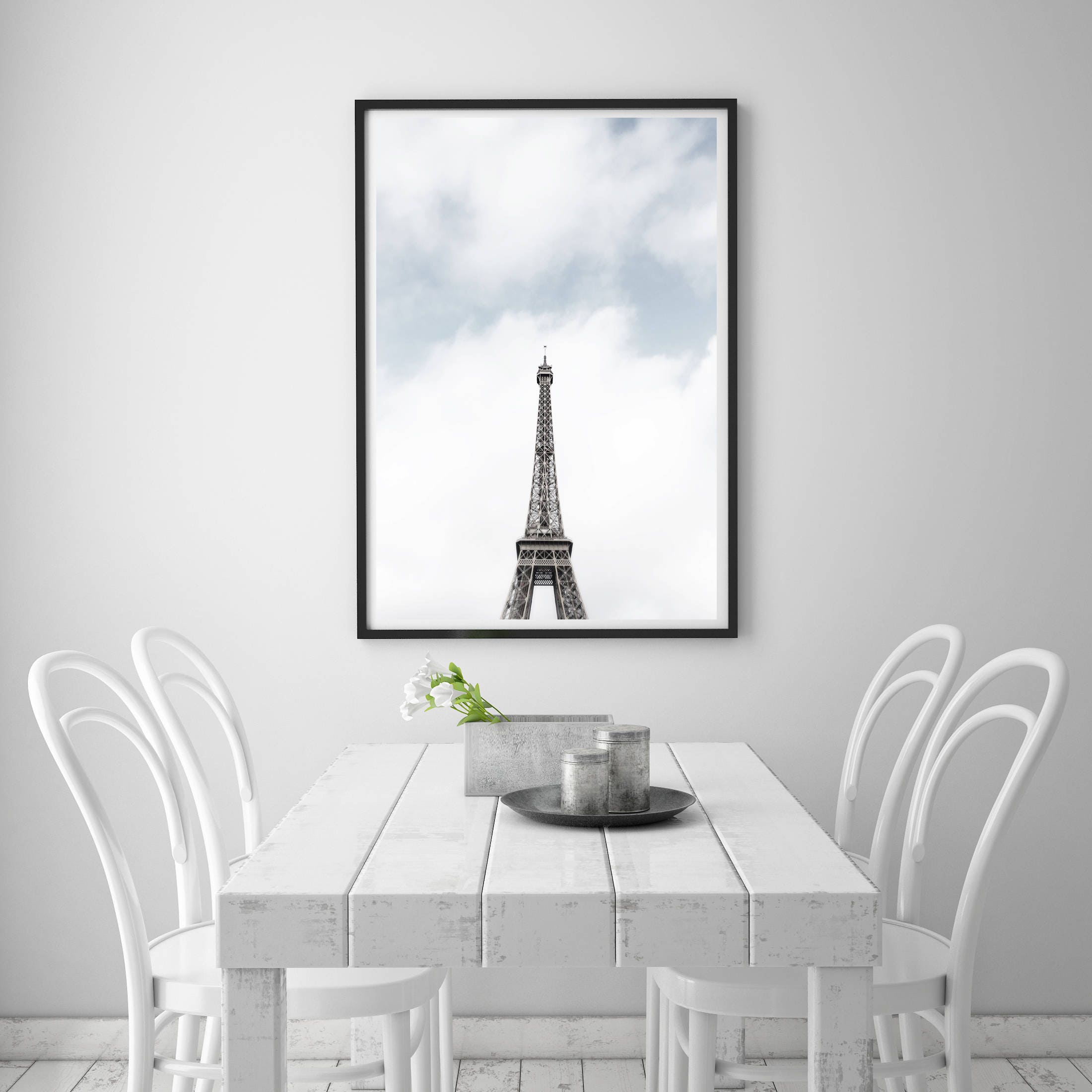 Eiffel Tower room with a view, Paris bedroom decor, Gift for ...