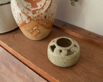 Ceramic Candle Holder / Handcrafted / Handmade / Stonewear