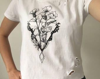 Womens floral print crop top