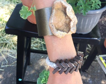Beautiful Handcrafted Vintage Bolt Bracelet - Unique one of a kind! Free shipping!