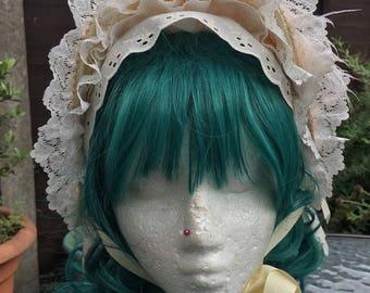 Lolita Victorian Regency Bonnet