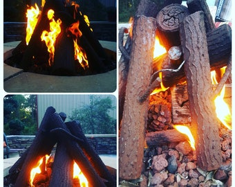 Custom Metal Logs For Outdoor Or Indoor Fireplace or Fire Pit