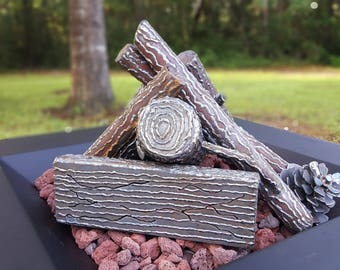 Custom Steel Logs For Outdoor Or Indoor Fireplace or Fire Pit